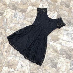 NWT URBAN ROSE Black Lace Dress
